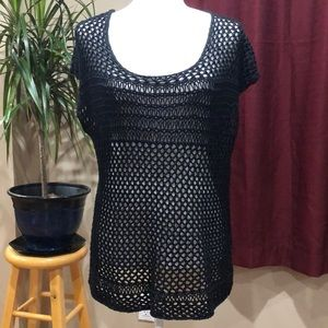 Converse One Star lace crochet top XL
